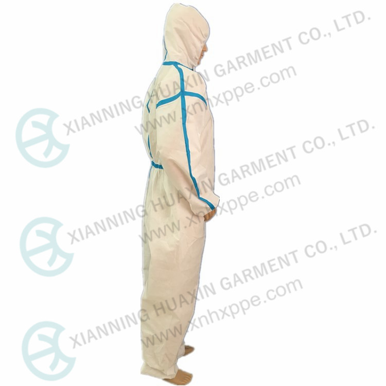 Blue taped disposable oil industry protective work wear