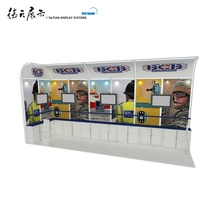 Fabric tension exhibition booth use graphics sticker for fashion <strong>trade</strong> show simple installation