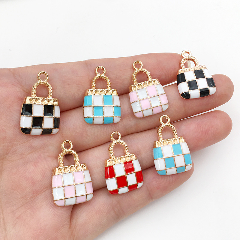 $5.9 for 28pcs Wholesale Enamel Charms Purse Charm Pendants For Handmade Jewelry Design DIY Bracelets Making