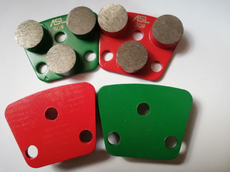 3 round segment Type Steel Based Concrete Grinding Disc