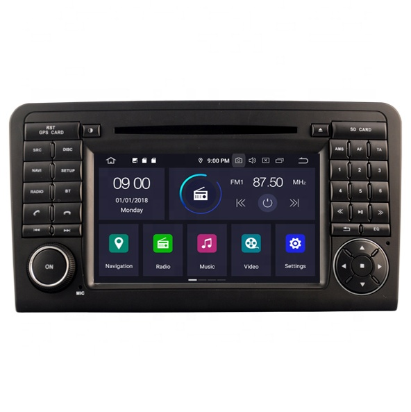 7'' touch screen Car Video Octa Core <strong>Android</strong> 9.0 built in GPS Car DVD Player for MERCEDES-BENZ ML320/ML 350/ <strong>W164</strong>/GL X164/GL320