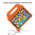 Kids Case for Samsung Galaxy Tab A 10.1 2019 New Arrivals Orange EVA Foam Lightweight Handle Tablet Cover