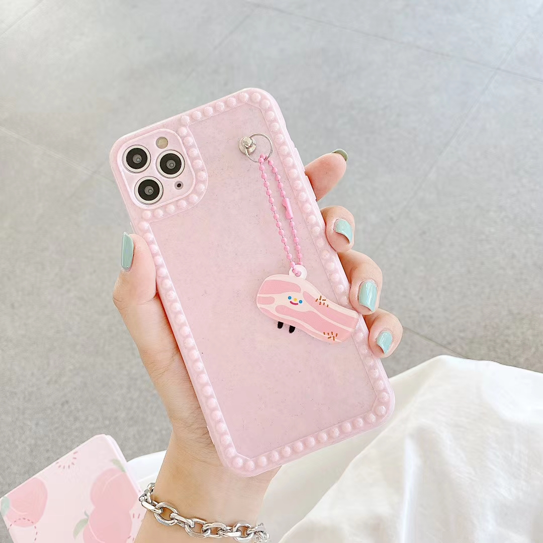 Luxury Solid Color Plain Photo Frame Mobile Phone Case Cover for iphone 11 pro max 7 8 plus x xr xs max Ring Lanyard