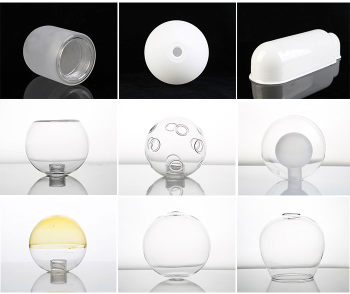 opal white round glass lamp shade wholesale