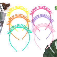 ROMANTIC new design happy birthday baby <strong>hair</strong> <strong>accessories</strong> silicone baby bow headband for girl kids