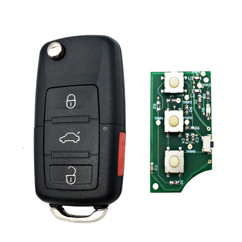 4 Buttons Flip 315 Mhz ID48 Remote Car Key Fit For VW Beetle Volkswagen Golf GTI, Jetta Passat CC Auto