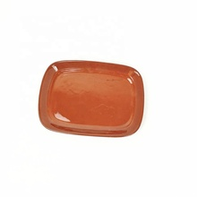 customized 7 inch rectangular glazed ceramic <strong>plate</strong> terracotta rectangular serving dish