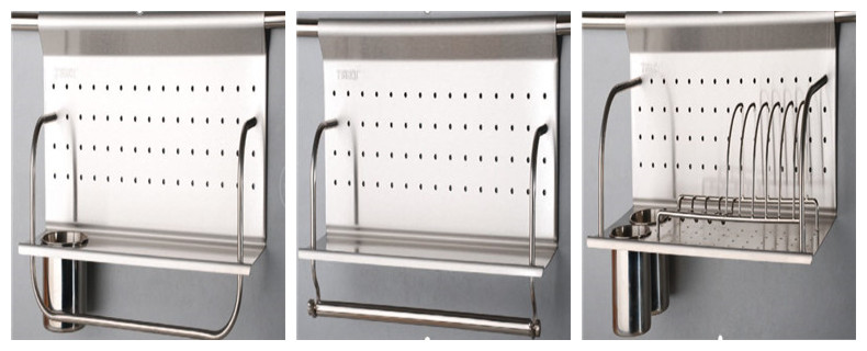 stainless steel kitchen storage holder and rack