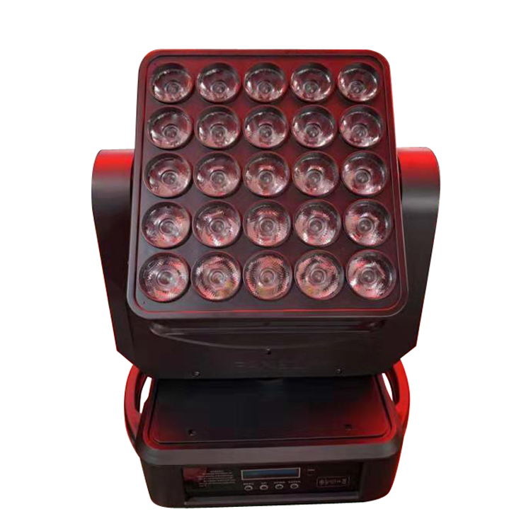 Professional stage lighting equipment 25pcsx12W rgbw led moving head matrix beam light <strong>point</strong> control