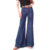High Waist wide leg denim pants flare jeans full length front seam bootleg women jeans trousers