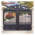 residential double entrance arched sliding cast aluminum gate models for indian house