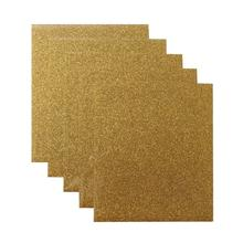 Best sell DIY craft gold glitter t shirt vinyl iron on transfer 12&quot;<strong>x10</strong>&quot; sheets for Heat Press Machine