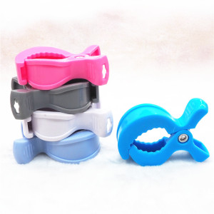 Wholesale Plastic Baby teether Pacifier dummy chain holder Clips teething Stroller toy hook