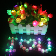 Round Coloured Led RGB Flash Ball Lamps Balloon Flashing Lights for Lantern Christmas <strong>Wedding</strong> Birthday Party Decoration
