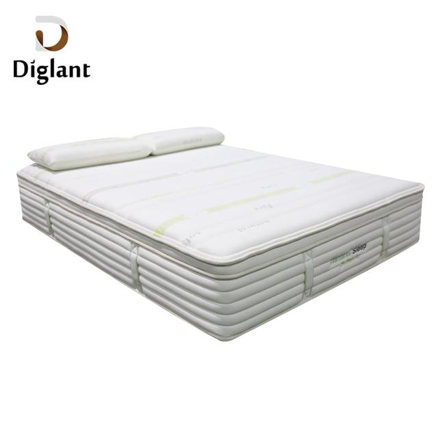 D46 Diglant Bedroom Sets pillow inflatable natural latex hotel memory pocket spring queen foam mattress for bedroom furniture - Jozy Mattress | Jozy.net