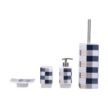 China Manufacturer Marble Pattern Porcelain Ceramic 4 Piece Bathroom Accessory Sets