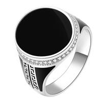 925 sterling silver painting pattern ring design mens rings models