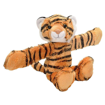 novelty stuffed wild animal tiger slap bracelet plush slapband toys
