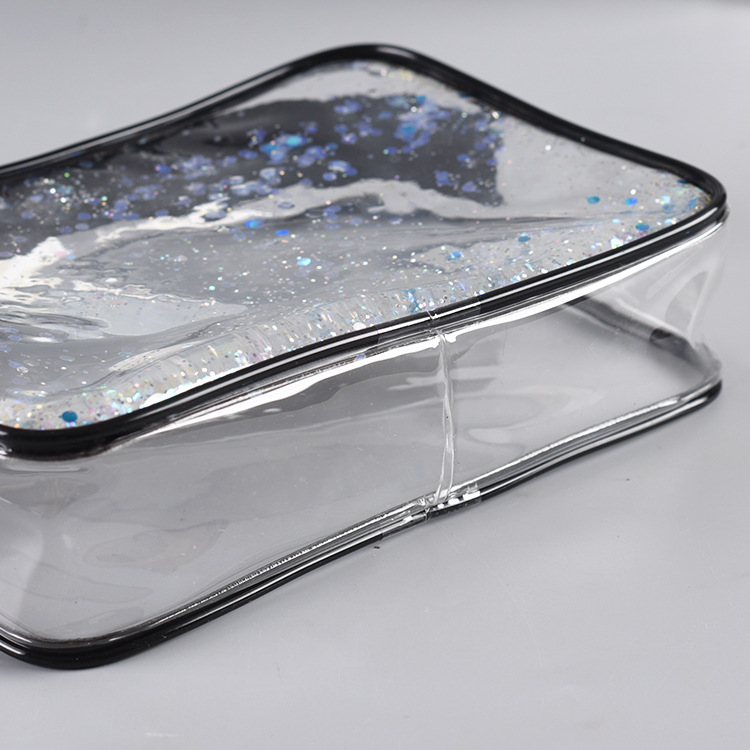 Clear Transparent Glitter PVC Cosmetic Bag