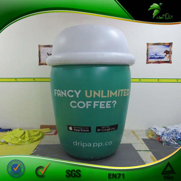 Advertising Giant Inflatable Coffee Cup, Commercial Coffee Mug Bottle
