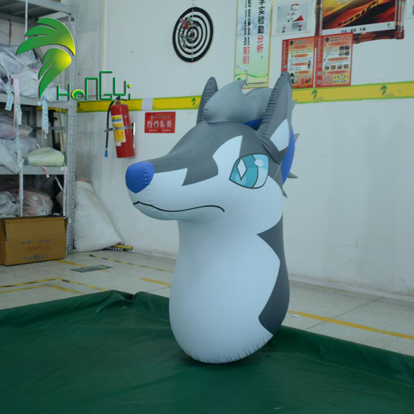 Interesting Customized PVC Inflatable Wolf Head Balloon Model Toy