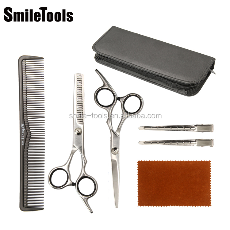Home Haircutting Barber Salon Thinning Shears Kits Hair Scissor Barber Scissor with Comb Hair Cutting Scissors for Salon Home