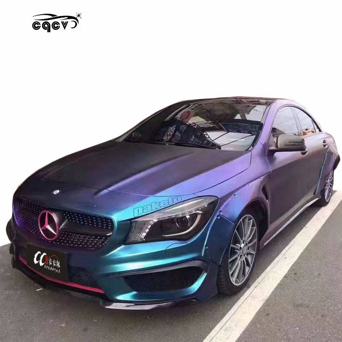 Body kit for Mercedes Benz cla-class cla45 <strong>w117</strong> wide flare and carbon fiber front lip rear diffuser side skirts wing spoiler
