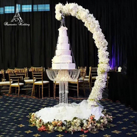 ROMANTIC WEDDING Cake Stand Party Decoration Wedding Faux Crystal Chandelier Style Drape Suspended Cake Swing