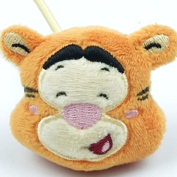 Soft cute cute cute plush doll headband hanging gift yellow tiger rope
