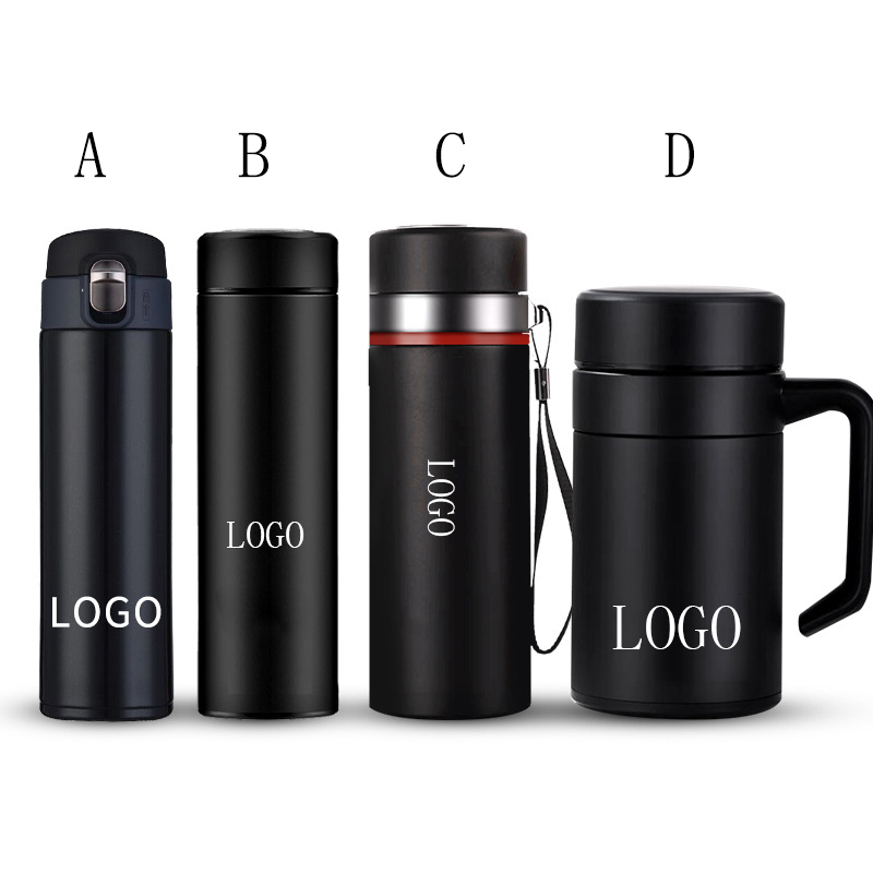 Black Matte Stainless <strong>Steel</strong> Vacuum Cups Custom LOGO Insulation Thermos