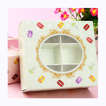 Pretty Simple Custom Design Paper Box With A Window Cookie Packaging Box Macarons