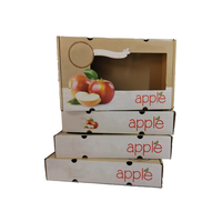 Delicate fruit shape printing packaging apple/orange/cherry paper gift boxes with clear window