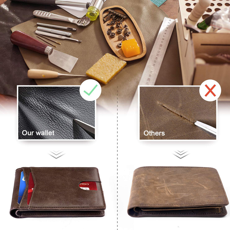 BSCI certificate factory Minimalist  Wallet , Slim Wallets for Men with RFID Blocking Mens Leather Wallet