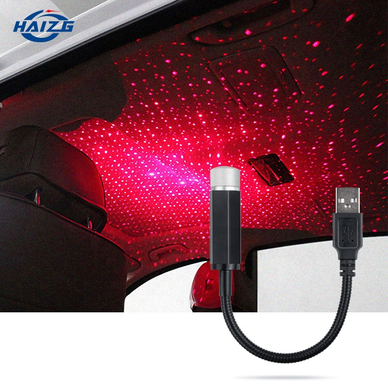 Car USB Led Starry Sky Projector Lamp Accessories Interior Decorative Car Roof Top Ceiling Star <strong>Light</strong>