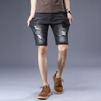 Clothing Manufacturers zipper fly denim shorts for men cotton jeans from china