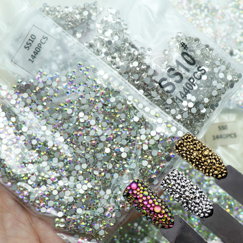 100% Genuine Elements <strong>Crystal</strong> in Bulk Wholesales Flat Back Non Hotfix Rhinestones