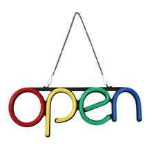 hanging on door 12V 110V 220V PVC Board Neon LED <strong>RGB</strong> Open sign