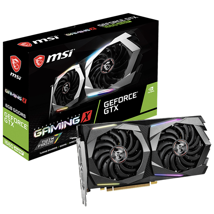 MSI NVIDIA GeForce GTX 1660 SUPER GAMING <strong>X</strong> 6G Graphics Card with 1408 Units Cores 14 Gbps 6GB GDDR6 192-bit Memory