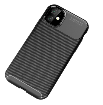Carbon Fiber Texture Design Durable Light Shockproof Cover Shell Soft TPU Silicone Gel Bumper Case for iPhone  11 Pro Max