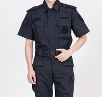 New Design Best Black Color Security Guard Uniform Security Office Janitor Uniform