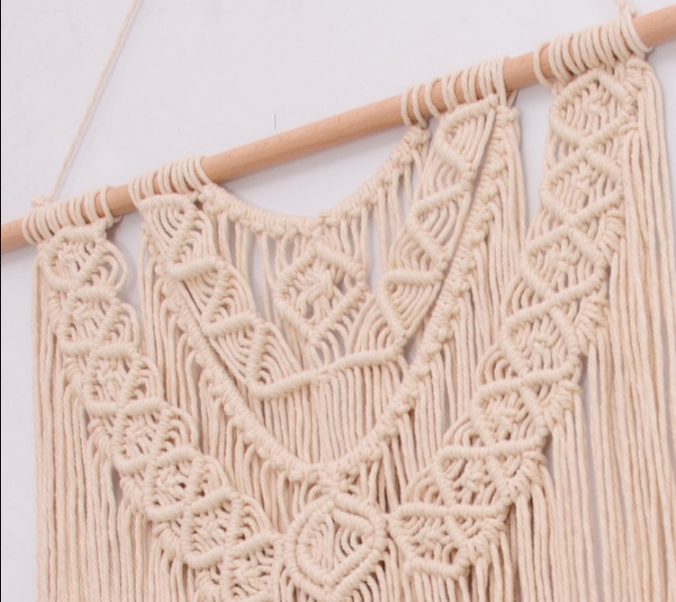 Wholesales Low MOQ Handmade Cotton Rope Woven Wall Hanging Tapestry Macrame