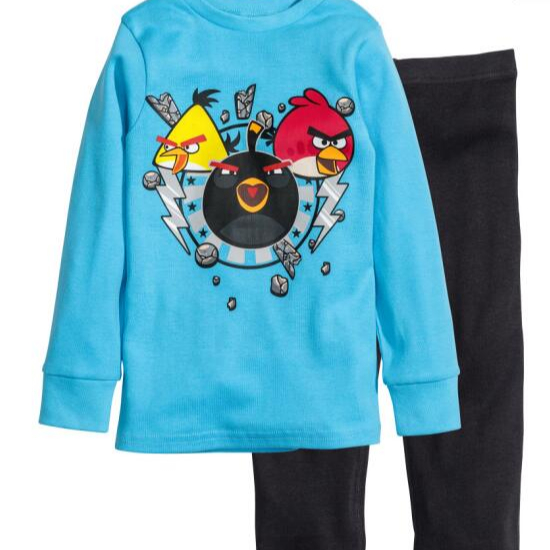 Cartoon Baby Clothing Sets Cute Printing Long Sleeve T shirt + Casual PantSets Kids Sleepwear