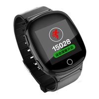 D100 OLED Touch Screen Heart Rate Monitor Android GPS Smart Watch Elder Smartwatch With GPS LBS WIFI Tracking