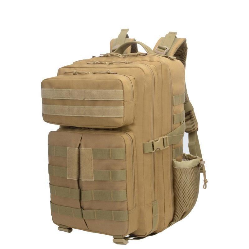 Military Tactical Backpack Bag Men Male Large Army Tactic Back Pack Molle 3P Assault Attack Waterproof Outdoor Black Bagpack