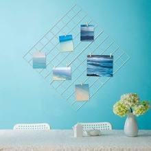Grid photo wall and wire wall grid display panel decorative iron frame photo wall hanging picture