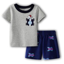 Boutique fashion kids clothing animal cartoon <strong>children</strong> clothes <strong>sets</strong> for boys