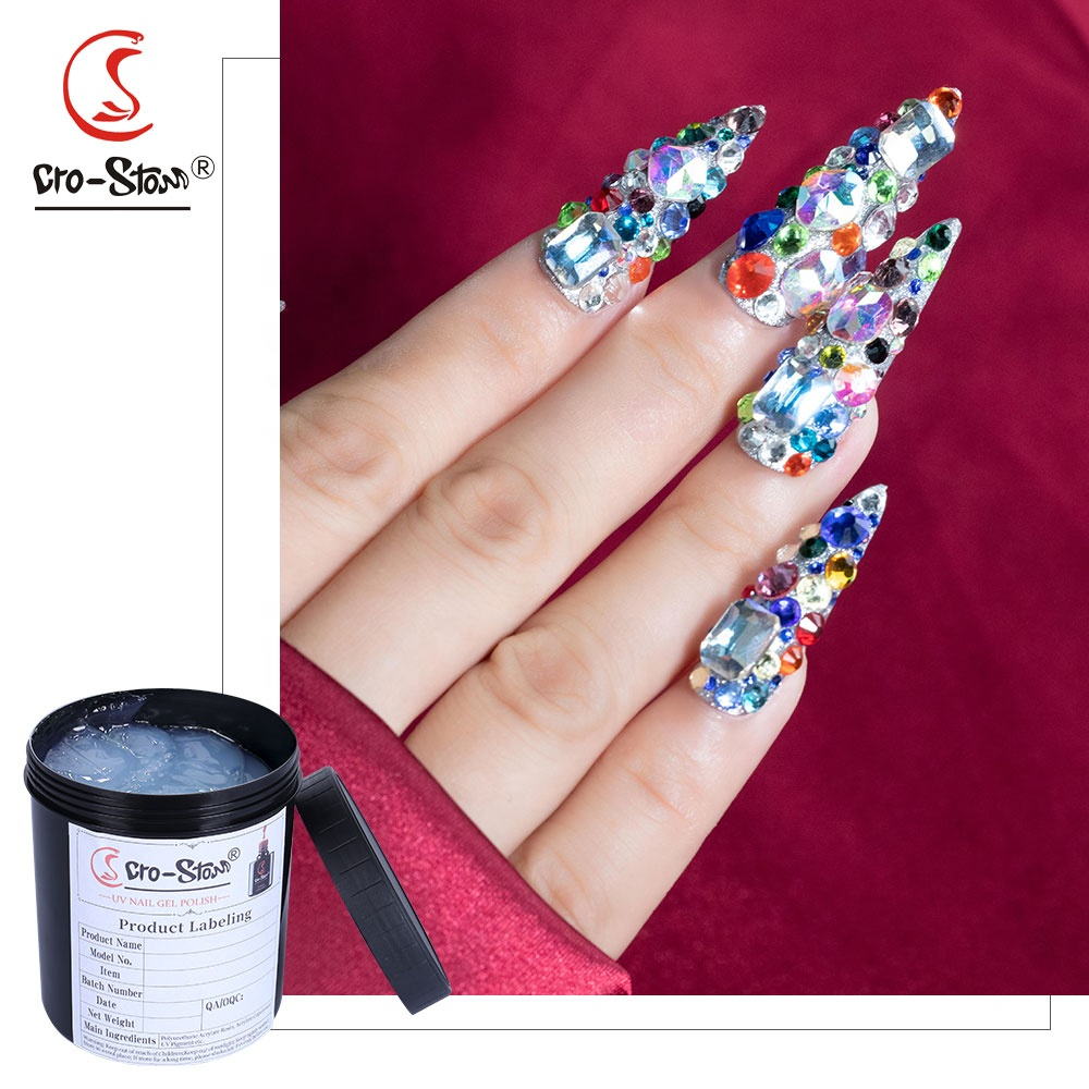 custom nail <strong>gel</strong> bulk 1KG uv super strong sticky rhinestone glue <strong>gel</strong>