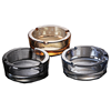 Popular Smoking Round Shape Small Clear Glass Ashtray 2 Slot for Cigar & Cigarette