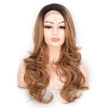 Wholesale 28inch Synthetic Softly Straight Loose Wave In The End Long Front Lace Wigs