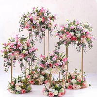 Event Rectangle Frame Centerpieces Flower Stand For Wedding Table Decoration